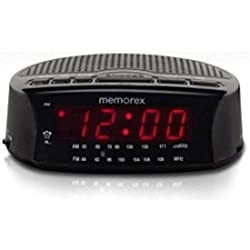 Memorex Am/fm Radio Large Red LED Display Alarm Clock (Black)