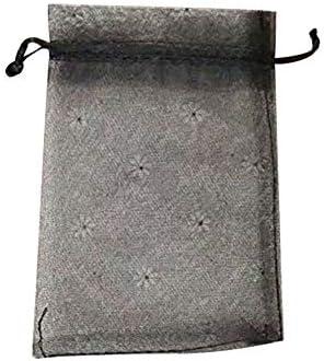 Hosaire - 100 Bolsas para Joyas pequeñas de Organza, Color Negro ...
