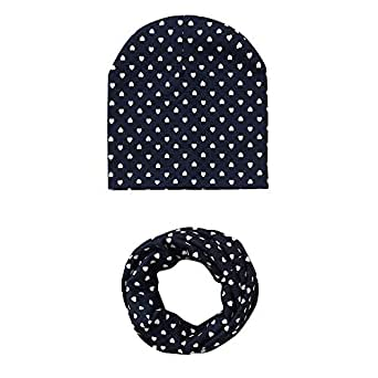 Amazon.com: Polka-dot Turban Beanie Hat Scraf for Toddler