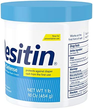 41ngw1ntD3L. AC - Desitin Daily Defense Baby Diaper Rash Cream With 13% Zinc Oxide, Barrier Cream To Treat, Relieve & Prevent Diaper Rash, Hypoallergenic, Dye-, Phthalate- & Paraben-Free, 16 Oz
