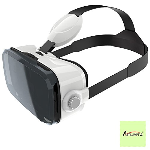 3D VR Glasses, AFUNTA Z4 120 Degree Viewing Angle Fully Immersive 3D Movies and Video Games Virtual Reality Headset for 4.7~6 inch Smartphones iPhone Samsung Galaxy Note