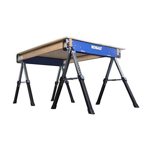 Kobalt 42-in Steel Adjustable Saw Horse (1300-lb) Set