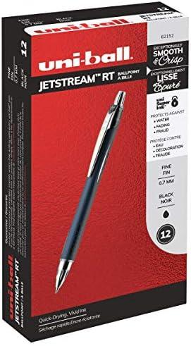 Pack of 1 62152 Uni-Ball Jetstream RT Rollerball Pen Fine Pt 0.7mm Black