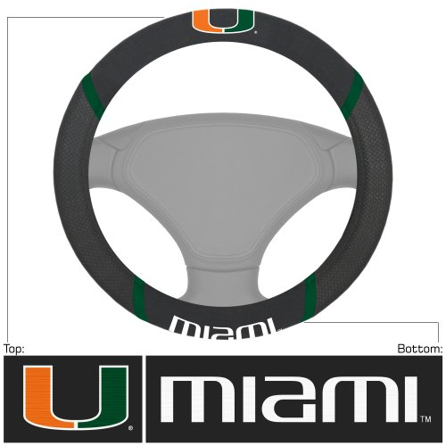 CC Sports Decor NCAA University of Miami Hurricanes Steering Wheel Cover Automotive Accessory (Wheel Cover Steering Hurricanes)