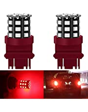 2-Pack 1157 BAY15D 1016 1034 7528 2057 2357 Extremely Bright Non-Polarity LED Light 9-30V-DC, 2835 33 SMD Replacement For Interior RV Camper Brake Light Lamps Tail BackUp Parking Bulbs