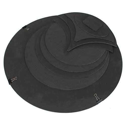 Drum Mute Practice Pad Snare - SODIAL 10 x Bass Snare Drums Mute Silencer Drumming Practice Pad Set Soundoff / Quiet Black