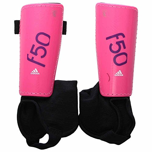 b1266c04c798 Galleon - Adidas Performance F50 Youth Shin Guard, Solar Pink/Lucky Pink,  Large