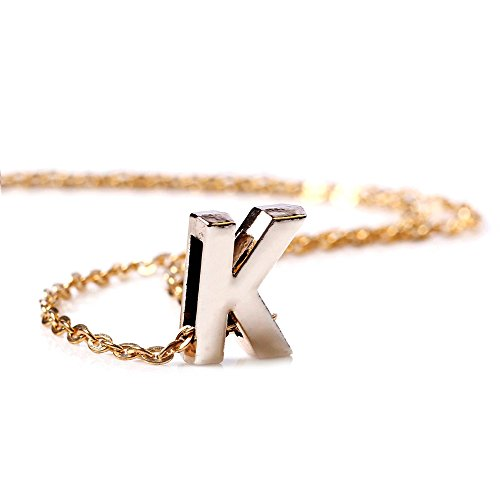 BODYA Womens metal gold plated Initial Letters K