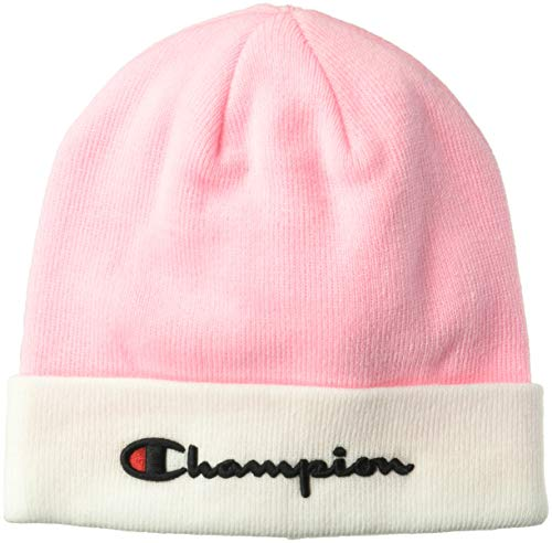 Champion LIFE Men's Script Beanie, Pink Candy/White, ()