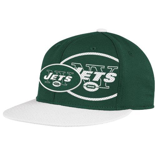 NFL New York Jets End Zone 2 In 1 Flat Visor Flex Hat - Tw80Z, Green, Large/X-Large