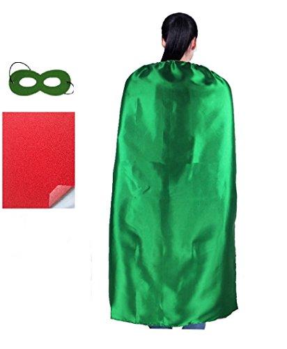 RANAVY DIY Superhero Capes for Adult -Party Superhero Costumes Unisex 140CM (Green) -