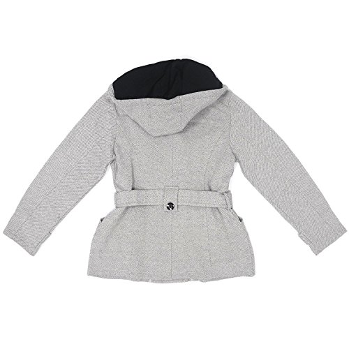 Sebby Womens Double Breasted Belted Fleece Pea Coat