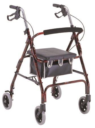 Merits Health Products Merits 4 Wheel Rollator - W462REDEA - Red, 1 Each / Each