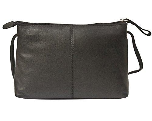 Pink Hot Crossbody Handbag Lining West ili RFID with East Leather 6667 zWPnvTq