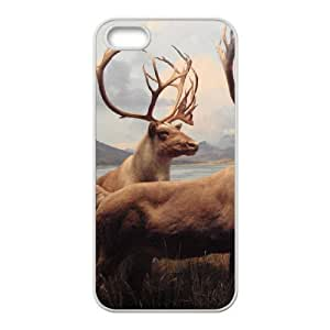 Customized Cover Case with Hard Shell Protection for Iphone 5,5S case with The milu deer lxa#209465