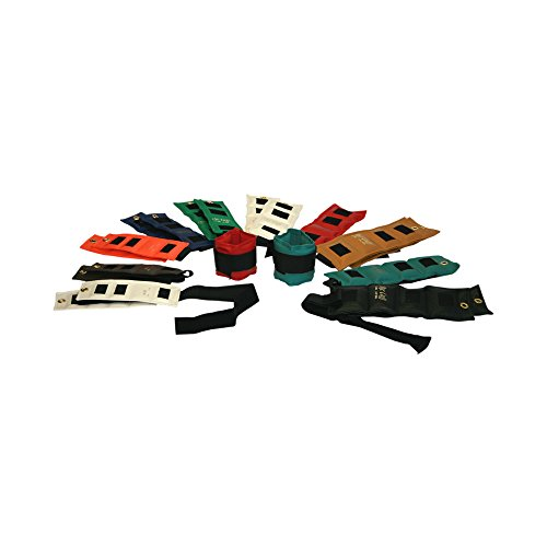 The Deluxe Cuff Ankle and Wrist Weight - 20 Piece Set - 2 each .25, .5, .75, 1, 1.5, 2, 2.5, 3, 4, 5 lb by the DELUXE Cuff_