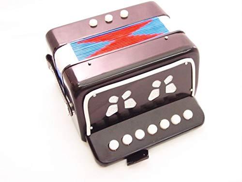 ACCORDION BLACK 7 KEY -BUTTON ORGAN (accordian) Concertina NEW by EDMBG