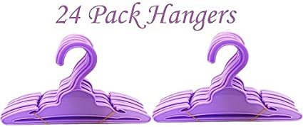 24 Purple Doll Hangers Compatible With 18 Inch American Girl Doll Clothes