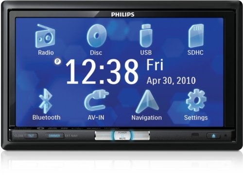 Philips CED1700 Double Din In-Dash DVD/CD/Am/FM Car Stereo Receiver, 7