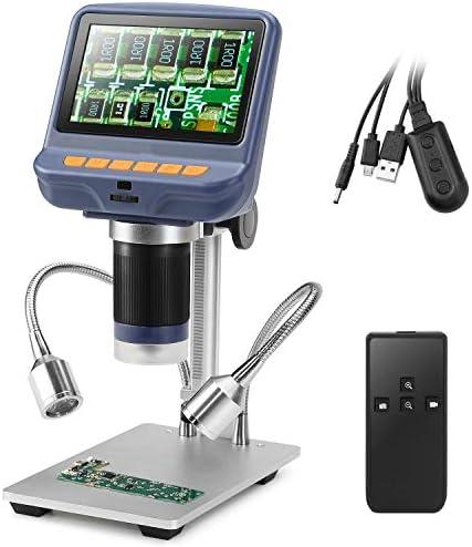 10X-220X倍率ズーム付きUSB顕微鏡、8 LED調整可能ライト、電話修理用カメラビデオレコーダーはんだ付けツールジュエリー評価生物学的使用