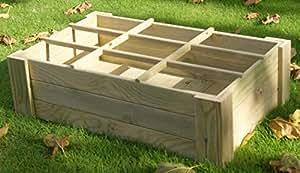 AD servicios Mesa de Cultivo (Huerto Urbano) sin Patas, con Suelo y separadores 60x100x27 cm