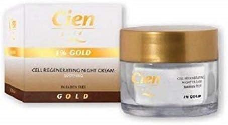 ✅ Crema Cien Gold Regeneradora Celular Noche 1% de Oro – 50ml