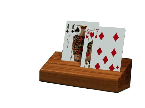 (Square Root Card Claw - Wooden Playing Card Holder/Organizer)
