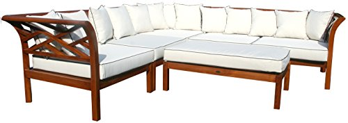 CHIC TEAK Long Island Sectional, 6 Pieces Made (Island Sectional)