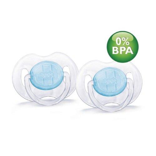 Philips Avent 0-6 Months BPA-Free Translucent Newborn Pacifi