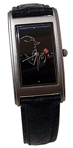 Beauty and The Beast Watch Broadway Musical Black Silver Wristwatch ()