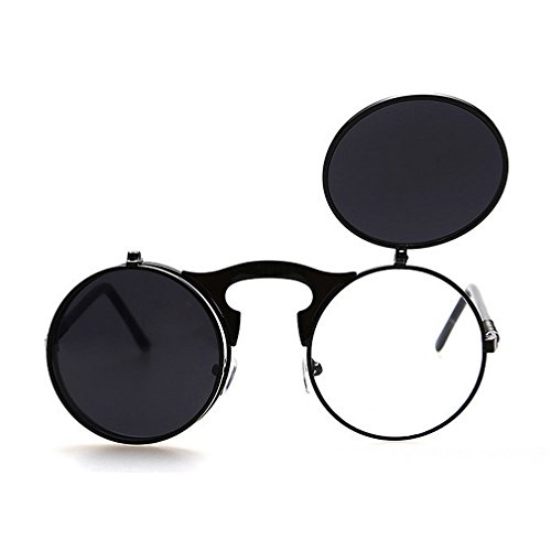 G&T 2016 Retro Fashion Metal Frame Clamshell Lens Round Beach - Frames Existing Lenses Buying For