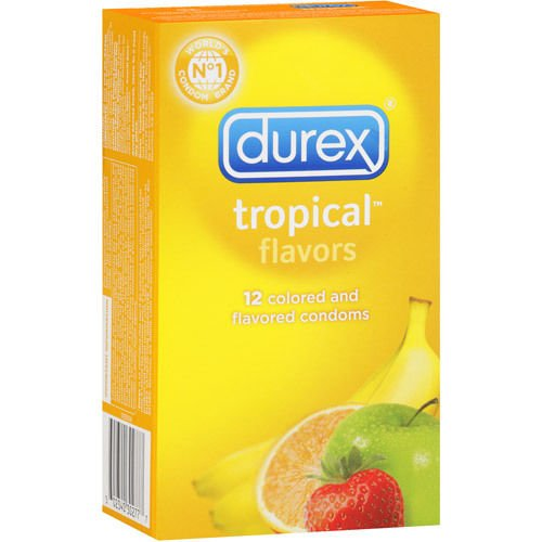 Siam Circus 5 Boxes of 12 Durex Tropical Flavors Mix Flavored Latex Condoms Retail Wholesale by Siam Circus Adults