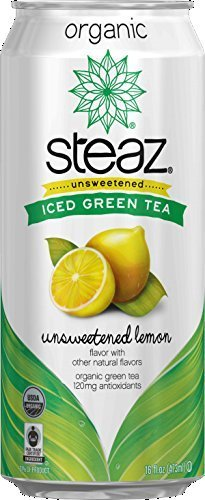 16 Pack - Steaz Unsweetened Iced Green Tea - Unsweetened Lemon - 16oz. by Steaz by Steaz