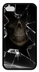 IMARTCASE iPhone 4S Case, Broken Glass Skull Durable Case Cover for Apple iPhone 4S/5 TPU Black