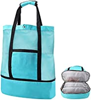 Fachoige Extra Large Mesh Beach Bag, Beach Tote Bag, Lightweight Waterproof Totes Tote Backpack Practical Stor