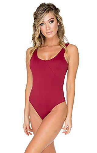 Aerin Swimsuit Rose (Aerin Rose Womens One Piece Swimsuit-106, Garnet, Size-8)