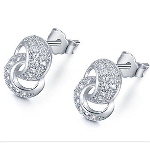 Summens Femme Bride Boucles d'oreille Argent 925 balle Mode Boucles d'oreille Bijoux