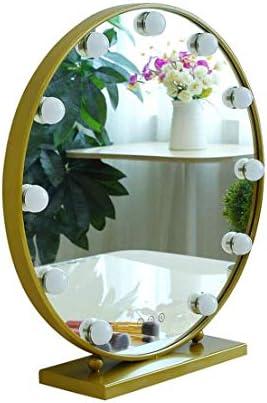 ドレッシングメイク表ハリウッドスタイル化粧鏡LEDライトのLEDライトキット付きバニティミラー 化粧鏡 (Size : Diameter 50cm)