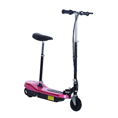 500w Electric Scooter - Aosom Pink High-Powered 120W Motorized Kids Foldable Electric Scooter with LED Lights