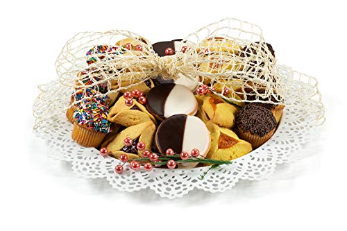 Green's Festive Purim Gift Platter with Kosher Hamentaschen and Black & White Cookies ()