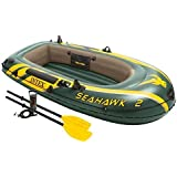 Intex Seahawk 2, 2-Person Inflatable Boat Set with French Oars and High Output Air Pump