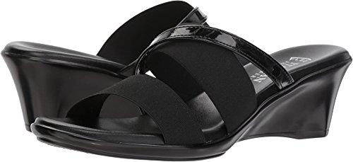 ITALIAN Shoemakers Women's Lorel Slide Sandal, Black, 7.5 Medium US