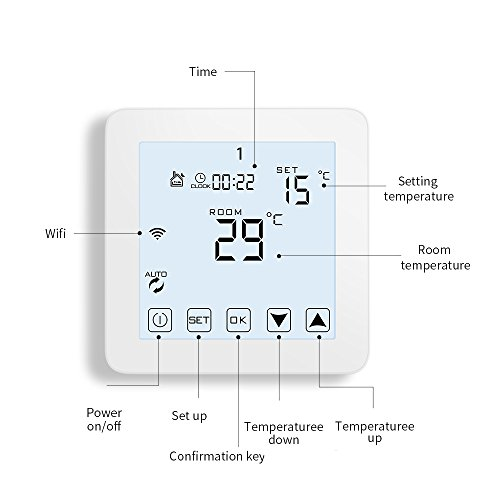 WiFi Thermostat, Programmable Touchscreen Smart Thermostat, Compatible with Alexa by CoolPai (Image #2)