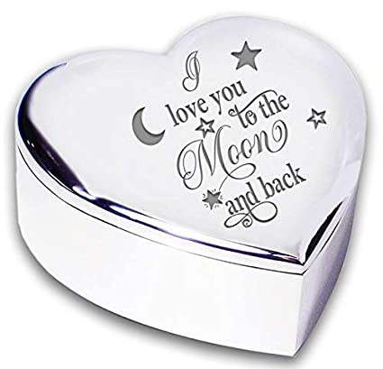 I LOVE YOU TO THE MOON and BACK Silver TRINKET BOX Gifts Presents Ideas for  Her 7d5a6cf65