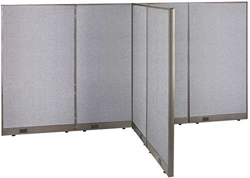 GOF T-Shaped Freestanding Partition 60d x 132w x 72h / Office, Room Divider by GOF