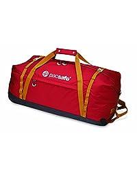 Pacsafe Duffelsafe AT120 Anti-Theft Wheeled Duffel Bag, Chili/Khaki