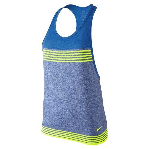 Nike Women's Dri-FIT Knit Loose Training Tank Top, Game Royal/Soar/Volt, X Large