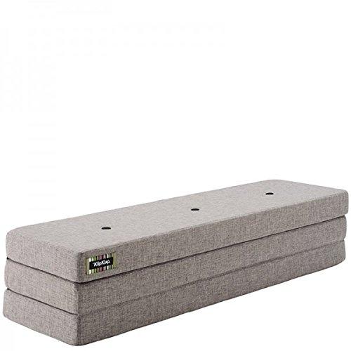 by KlipKlap 3 fold Multipurpose Furniture - Multigrey with Grey Button, Extra length 200 cm
