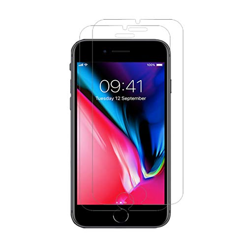 iPhone 8 7 6 Plus Screen Protector [2-Pack], Tempered Glass Screen Protector for Apple iPhone 8 Plus, 7 Plus, 6 Plus [5.5 inch] 2017, 2016, 2015