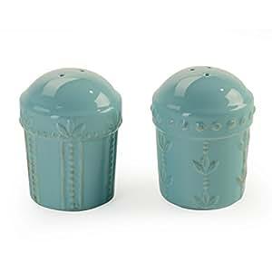 Signature Housewares Sorrento Collection Salt and Pepper Shakers, Aqua